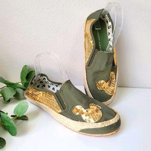 Disney Mickey sequin espadrille slip on shoes